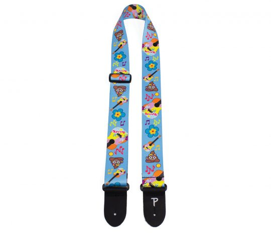 Official Licensing emoji Polyester Guitar Strap