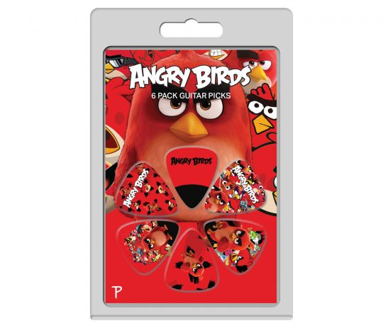 6 Pack Angry Birds Official Licensing Variety Pack Guitar Picks