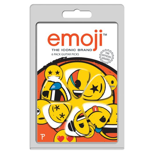 6 Pack emoji Official Licensing Variety Pack Guitar Picks