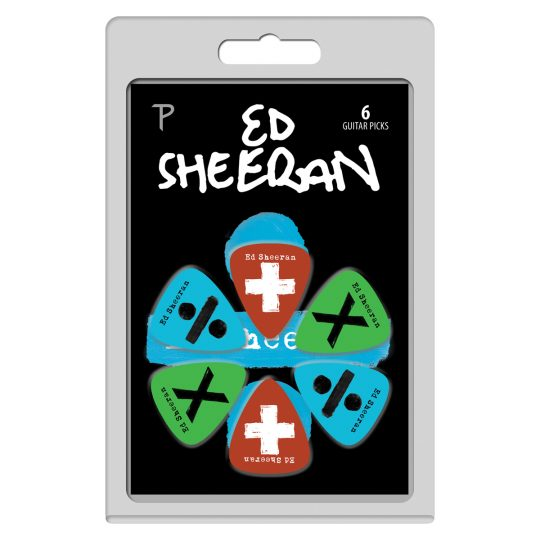 6 Pack Ed Sheeran Official Licensing Variety Pack Guitar Picks