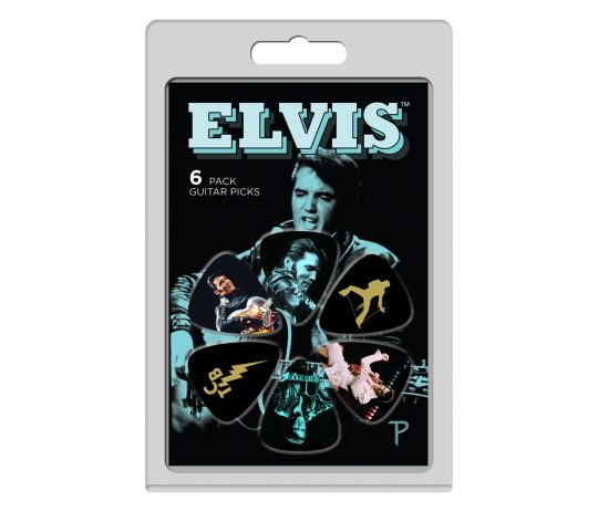 6 Pack Elvis Presley Official Licensing Variety Pack Guitar Picks