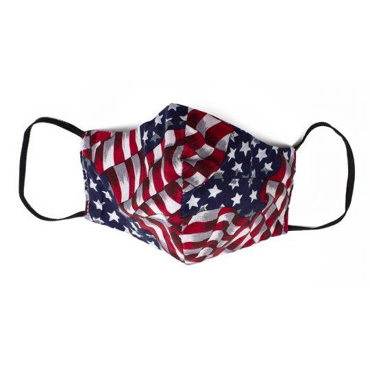USA flag pattern small sized washable face mask.