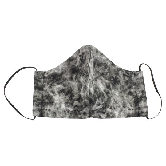 Black marble pattern washable face mask.