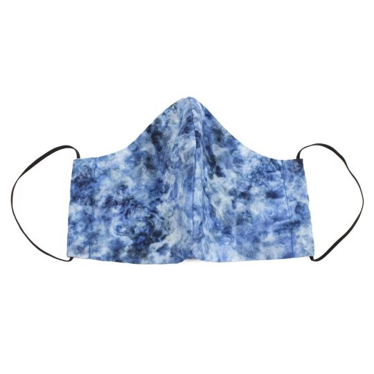 Cobalt marble pattern small sized washable face mask.