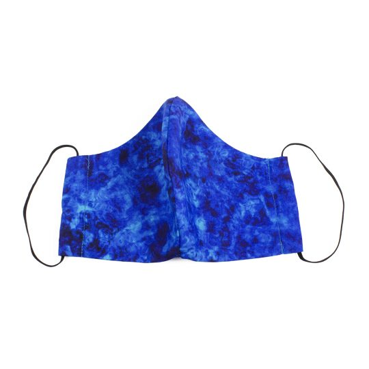 Royal blue marble pattern washable face mask.