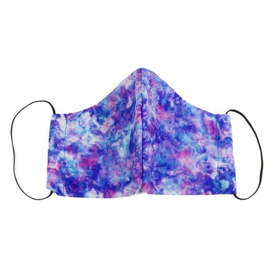 Purple/Pink/Blue Multi Color Marble Pattern Washable Face Mask