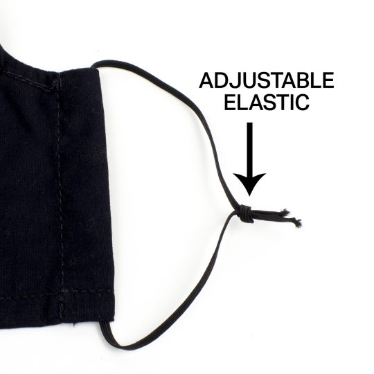 Face mask adjustable elastic
