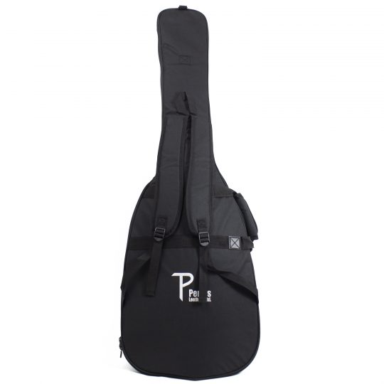 Bass Guitar Gig Bag with Side Carrying Handle, back side shoulder straps and two front pockets