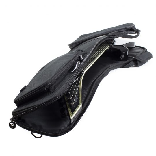 Electric Guitar Gig Bag with Side Carrying Handle, Back Side Shoulder Straps and Two Front Pockets