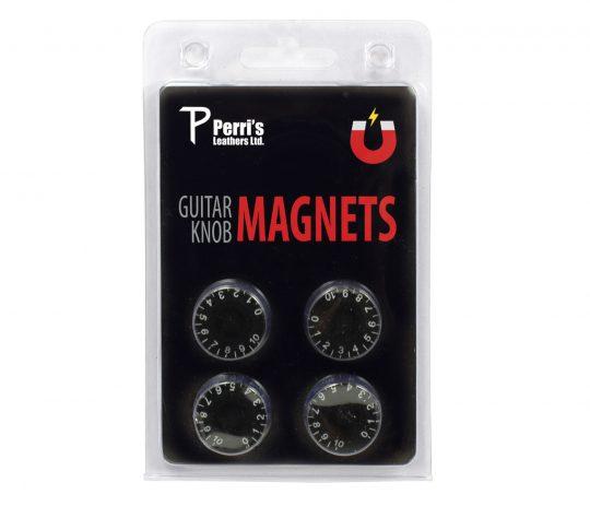 Black guitar knob magnets. Pack of four