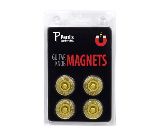 Gold guitar knob magnets. Pack of four