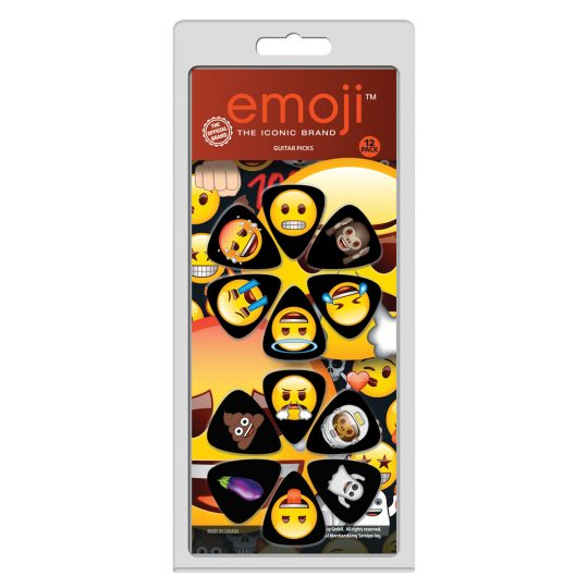 12 Pack Of Celluloid Official Licensing Emoji Variety Guitar Picks The emoji brand icons have become the best way to express yourself universally, spanning every age and gender, and breaking down language barriers, or for when you just can't find the right words. The little characters have grown into their own large personalities, loved and used daily by people of all ages. The fun faces and objects are their own easily recognizable language expressing all your thoughts and moods to anyone, anywhere! Perri's guitar picks feature emojis you know and love so you can play with the emoji that best fits your vibe at the moment. The emoji guitar straps are patterned with different emojis that turn your guitar strap into a party with your favourite emoji characters. Express your personal style with emojis and let your music do the talking!